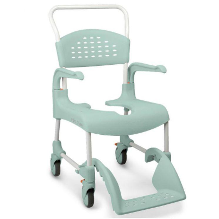 chaise de douche wc roulettes clean coloris vert lagon. Black Bedroom Furniture Sets. Home Design Ideas